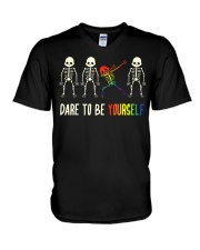 Dare To Be Yourself LGBT Pride V-Neck T-Shirt thumbnail