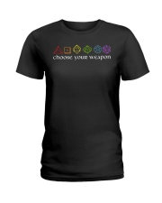 DnD Choose Your Weapon Ladies T-Shirt thumbnail