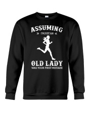Assuming I'm An Just Old Lady - Running Crewneck Sweatshirt tile