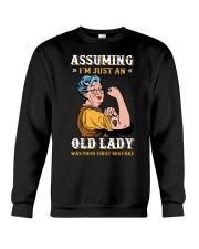 Assuming Old Lady Feminism Crewneck Sweatshirt thumbnail