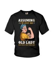 Assuming Old Lady Feminism Youth T-Shirt thumbnail