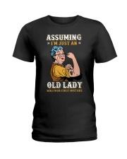 Assuming Old Lady Feminism Ladies T-Shirt thumbnail
