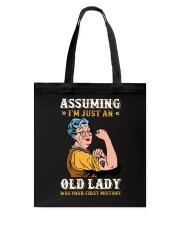 Assuming Old Lady Feminism Tote Bag thumbnail