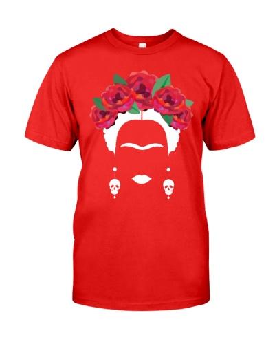 Frida Kahlo With Rose Crown