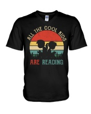 All The Cool Kids Are Reading V-Neck T-Shirt thumbnail