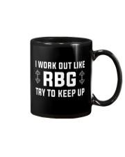 I Work Out Like RBG Try To Keep Up Mug thumbnail