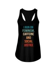 I Run On Feminism Caffeine And Social Justice Ladies Flowy Tank thumbnail