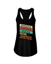 Books Coffee Dogs And Social Justice Vintage Ladies Flowy Tank thumbnail