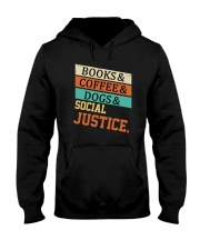 Books Coffee Dogs And Social Justice Vintage Hooded Sweatshirt thumbnail