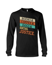 Books Coffee Dogs And Social Justice Vintage Long Sleeve Tee thumbnail