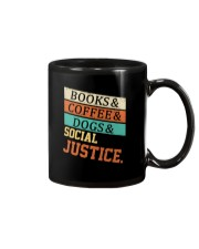 Books Coffee Dogs And Social Justice Vintage Mug thumbnail