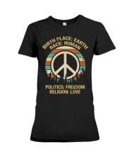 Birth Place: Earth Race: Human  Premium Fit Ladies Tee thumbnail