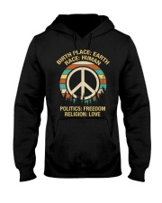 Birth Place: Earth Race: Human  Hooded Sweatshirt thumbnail