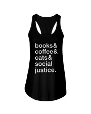 Books Coffee Dogs Social Justice Ladies Flowy Tank thumbnail
