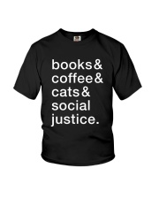 Books Coffee Dogs Social Justice Youth T-Shirt thumbnail