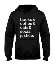 Books Coffee Dogs Social Justice Hooded Sweatshirt thumbnail