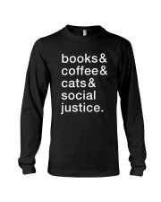Books Coffee Dogs Social Justice Long Sleeve Tee thumbnail