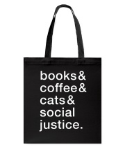 Books Coffee Dogs Social Justice Tote Bag thumbnail