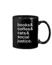 Books Coffee Dogs Social Justice Mug thumbnail