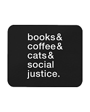 Books Coffee Dogs Social Justice Mousepad thumbnail