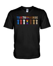 Together We Rise V-Neck T-Shirt thumbnail