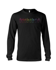 Feminist Sign Language Colourful Long Sleeve Tee thumbnail
