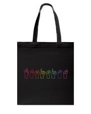 Feminist Sign Language Colourful Tote Bag thumbnail