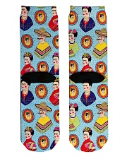 Frida Kahlo Pattern Crew Length Socks back