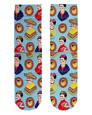Frida Kahlo Pattern Crew Length Socks front