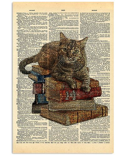 Cat On Book Stack Dictionary