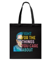 Fight for The Things You Care About Watercolor Tote Bag thumbnail