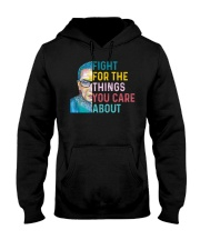 Fight for The Things You Care About Watercolor Hooded Sweatshirt thumbnail