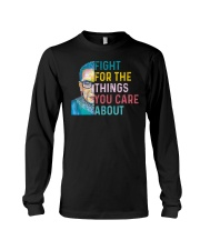 Fight for The Things You Care About Watercolor Long Sleeve Tee thumbnail