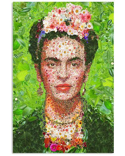 Frida Kahlo Flower Collage