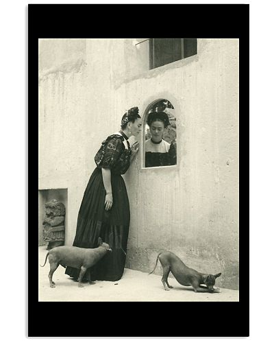 Frida Kahlo And Dogs Vintage