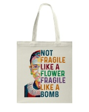 RBG - Fragile Like A Bomb Tote Bag thumbnail