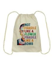 RBG - Fragile Like A Bomb Drawstring Bag thumbnail