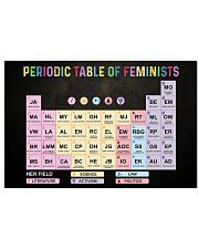 Periodic Table Of Feminists 17x11 Poster front