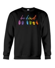 Be Kind Sign Language Crewneck Sweatshirt thumbnail