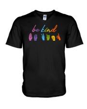 Be Kind Sign Language V-Neck T-Shirt thumbnail