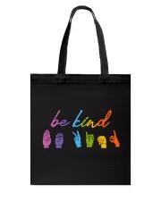 Be Kind Sign Language Tote Bag thumbnail