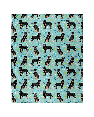 Rottweiler 2 Quilts and Blankets