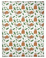 """Sloth 4 Quilts and Blankets Small Fleece Blanket - 30"""" x 40"""" thumbnail"""