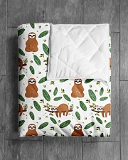 """Sloth 4 Quilts and Blankets Quilt 40""""x50"""" - Baby aos-quilt-40x50-lifestyle-closeup-front-04"""