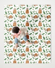 """Sloth 4 Quilts and Blankets Quilt 40""""x50"""" - Baby aos-quilt-40x50-lifestyle-front-06"""