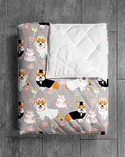 """Corgi 35 Quilts and Blankets Quilt 40""""x50"""" - Baby aos-quilt-40x50-lifestyle-closeup-front-04"""
