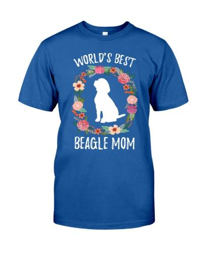 WORLD'S BEST BEAGLE MOM TSHIRT