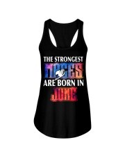 THE STRONGEST MAGES ARE BORN IN JUNE Ladies Flowy Tank thumbnail