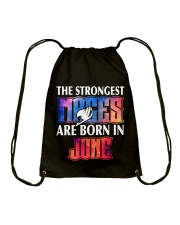 THE STRONGEST MAGES ARE BORN IN JUNE Drawstring Bag thumbnail