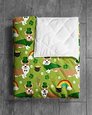 """Corgi 14 Quilts and Blankets Quilt 40""""x50"""" - Baby aos-quilt-40x50-lifestyle-closeup-front-04"""